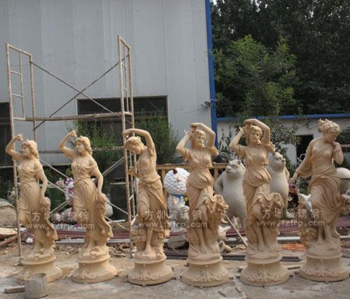 玻璃钢四季女神雕塑批量生产