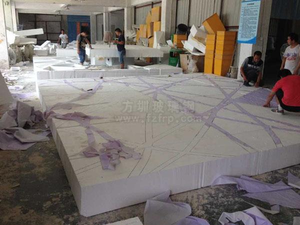 海南机场玻璃钢天花吊顶倒模制作图