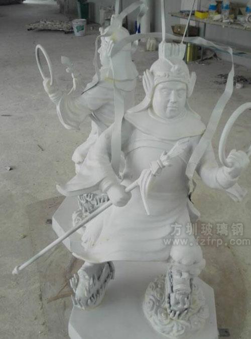 玻璃钢哪吒人物模型工厂生产图