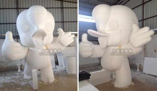 大型吉祥物玻璃钢卡通雕塑工厂泡沫雕塑图
