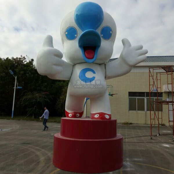 大型吉祥物玻璃钢卡通雕塑
