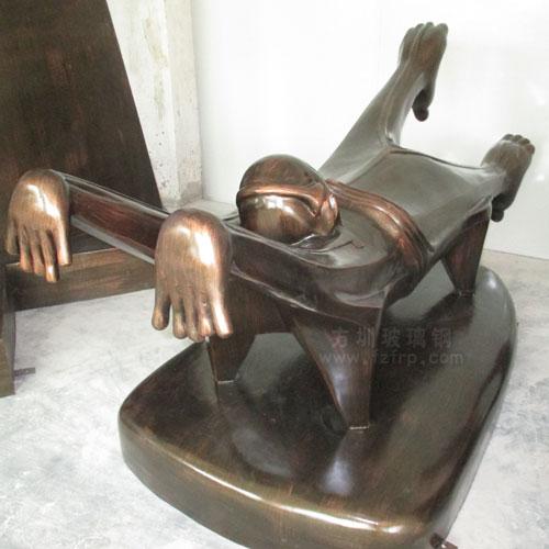 钢运动人物景观雕塑