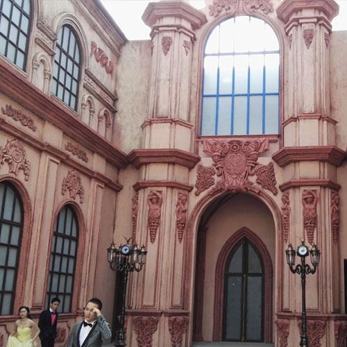 欧式建筑玻璃钢装饰构件图片