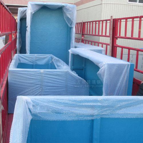 广州海产品配送中心定制玻璃钢鱼池