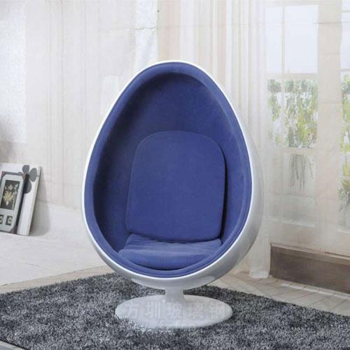 高档会所玻璃钢美陈鸡蛋椅