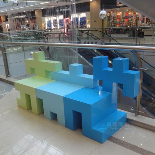 商场玻璃钢艺术休闲椅