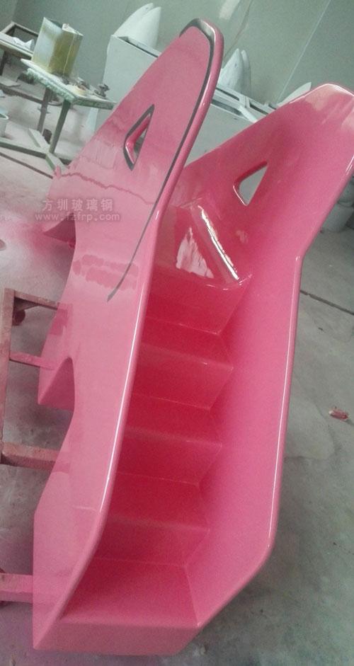 玻璃钢大象滑滑梯工厂生产侧面图展示
