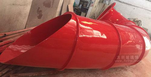 S型玻璃钢滑梯工厂生产图