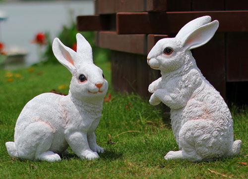 桌面壁纸牛与兔子