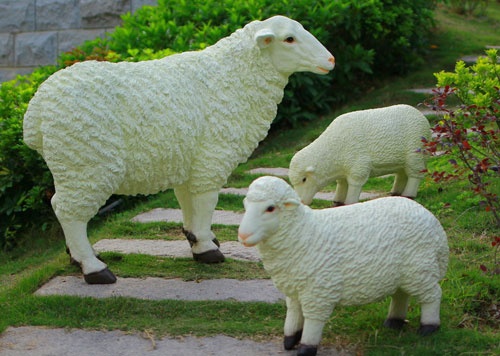 仿真绵羊雕塑