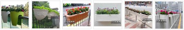 道路护栏悬挂式玻璃钢花盆批发价格要多少钱