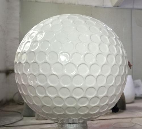 玻璃钢高尔夫球雕塑造型工厂生产图