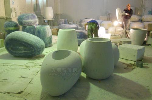 东莞玻璃钢商场组合花盆成创意景观