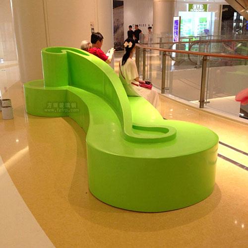时尚创意玻璃钢坐凳专供广东阳江商场休息用