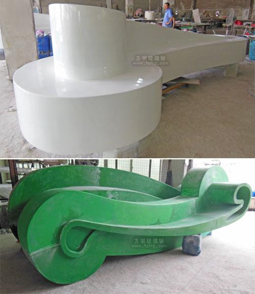 广东阳江商场玻璃钢坐凳工厂生产图
