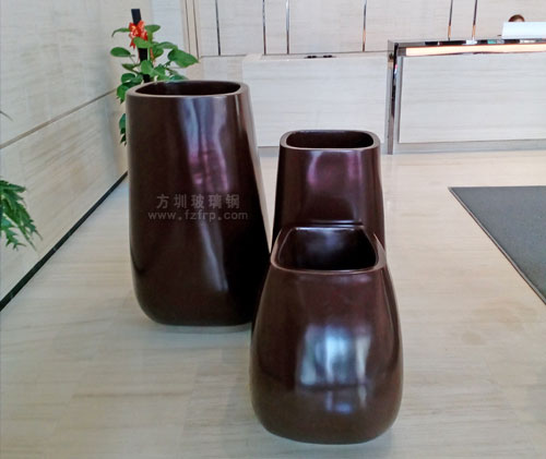 深圳珠宝大厦摆放室内组合玻璃钢景观花盆