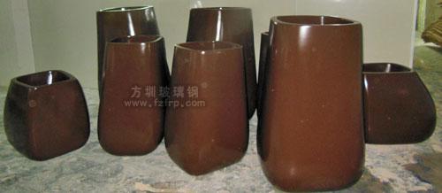 深圳珠宝大厦室内组合玻璃钢景观花盆工厂生产图