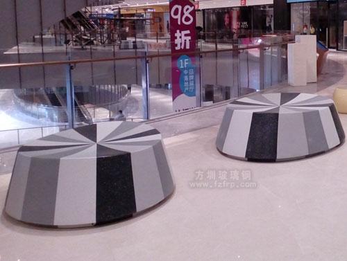 玻璃钢座椅高端时尚佛山房地产批量采购商场摆放图