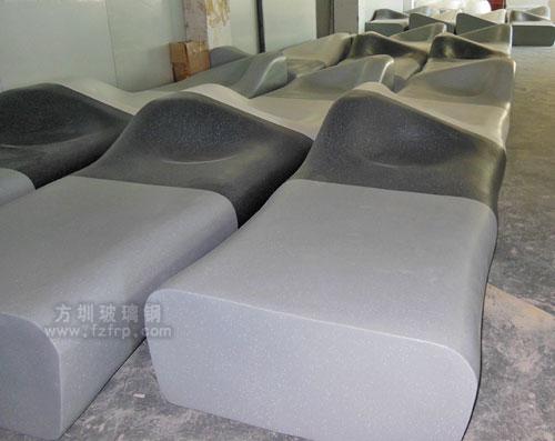 玻璃钢座椅高端时尚佛山房地产批量采购