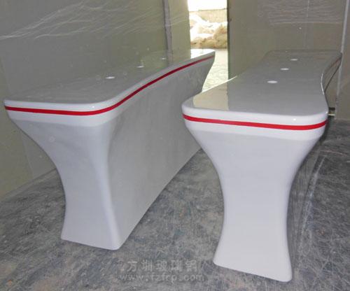 青海西宁银行高端定制玻璃钢前台工厂生产图