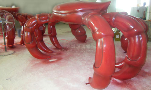 巽寮湾城市景观雕塑工厂喷漆图