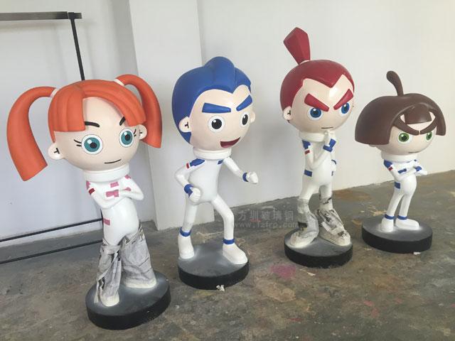 动漫卡通玻璃钢雕塑塑方圳工厂成品展示