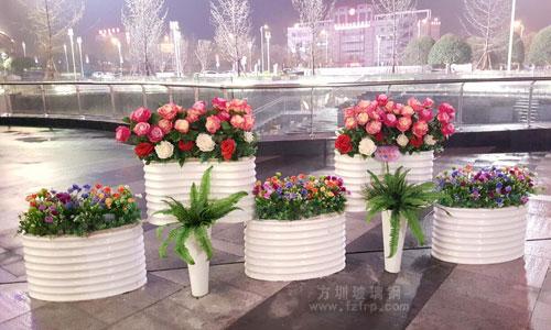 户外景观腰型玻璃钢花盆