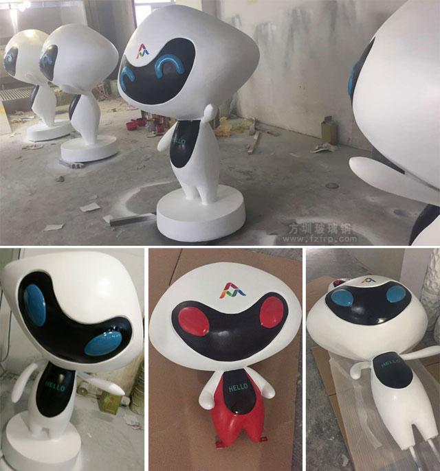 双创周吉祥物玻璃钢定制雕塑工厂生产图