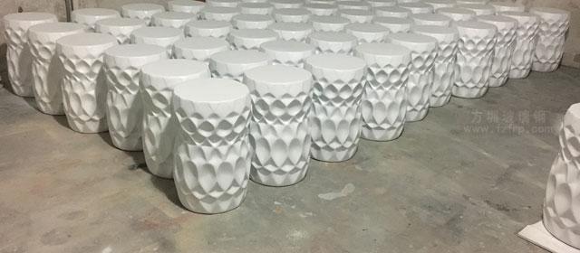 海南大型酒店圆形玻璃钢装饰坐凳