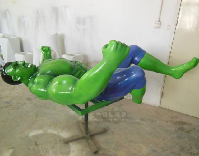 玻璃钢巨人雕塑装饰墙工厂生产图