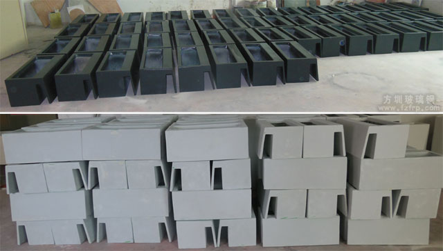 深南大道悬挂式玻璃钢花盆方圳工厂生产图