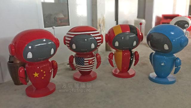 广州玻璃钢卡通公仔工厂生产制作图