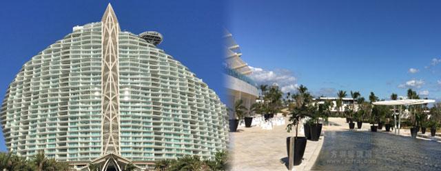 海南七星酒店玻璃钢创意定制花盆户外摆放图