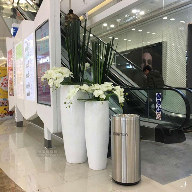 玻璃钢花瓶喜迎银川新华联购物中心盛大开业