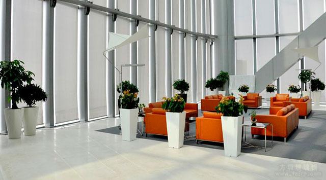 多款方圳玻璃钢花瓶美化装饰高档大厦写字楼环境