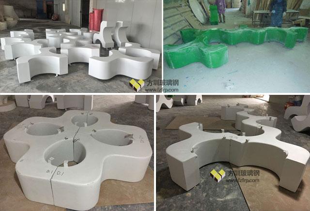 盐田幼儿园创意定制玻璃钢小马组合凳工厂生产图