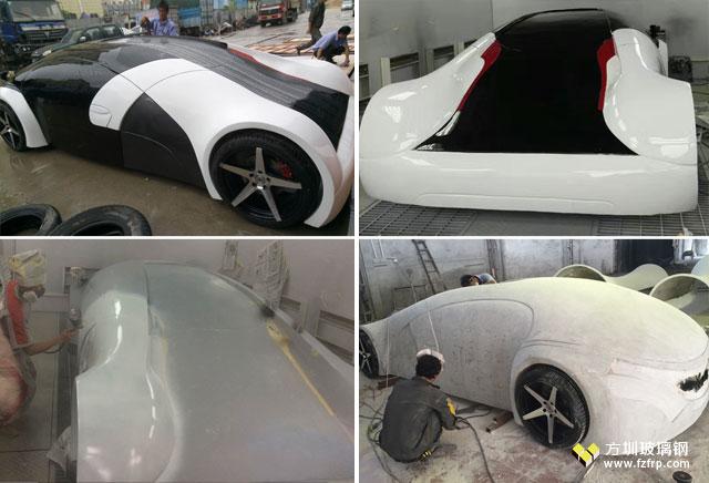 国外车展定制玻璃钢概念跑车方圳工厂制作图