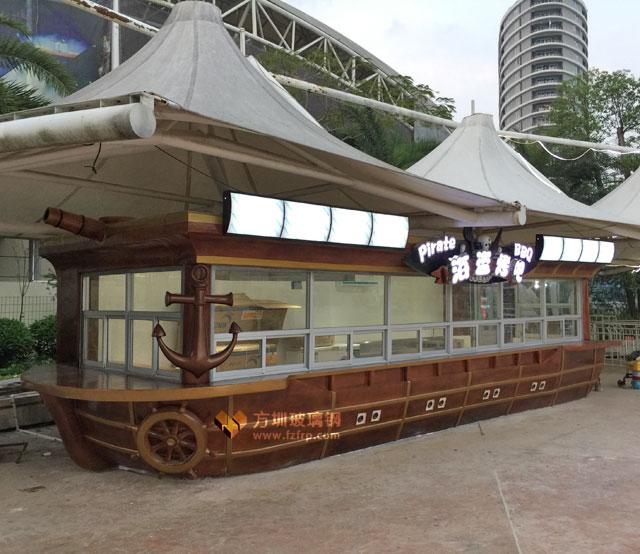 玻璃钢售卖亭海盗风格创意设计震撼登陆巽寮湾景区
