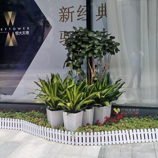 户外玻璃钢景观花盆世界500强恒大地产个性定制