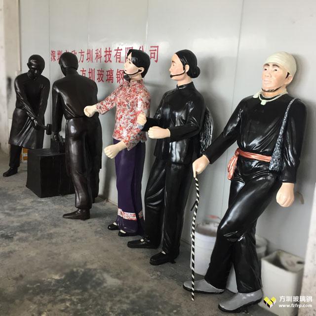 客家文化玻璃钢雕塑广东韶关客户定制