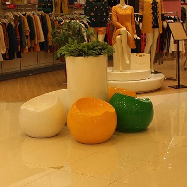 方圳玻璃钢坐凳高档休憩装饰广东商场