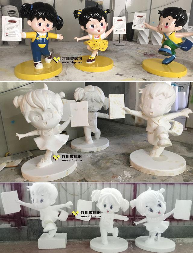 广州增城大埔围村玻璃钢卡通人物雕塑方圳工厂生产制作图