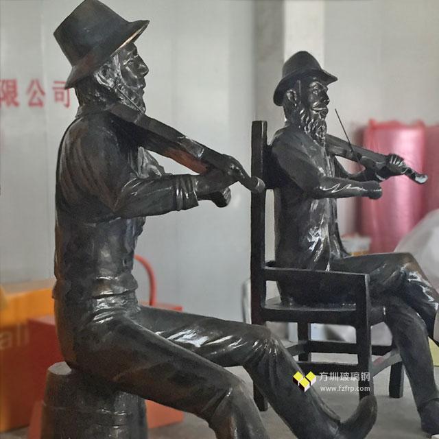 玻璃钢仿铜人物雕塑装饰长春新华联开业庆典