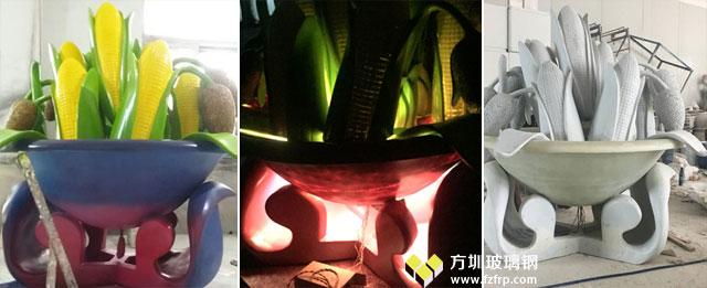 玻璃钢花盆玉米麦穗造型