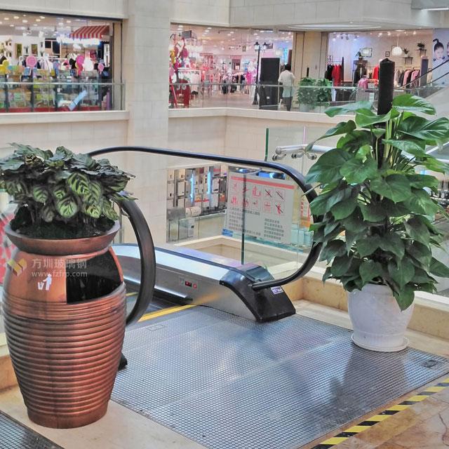 天虹商场玻璃钢花盆自带垃圾桶室内外通用