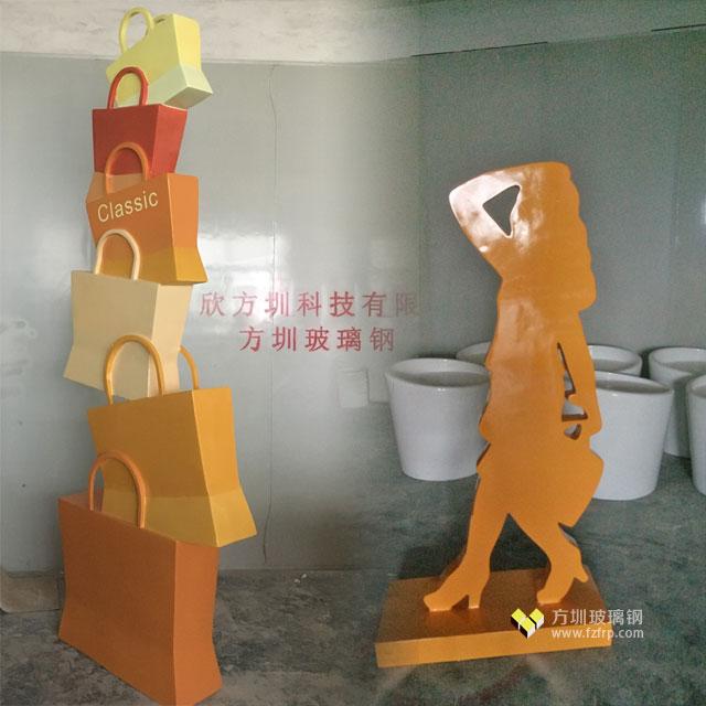 长春新华联开业庆典购物美女玻璃钢雕塑造型工厂生产图