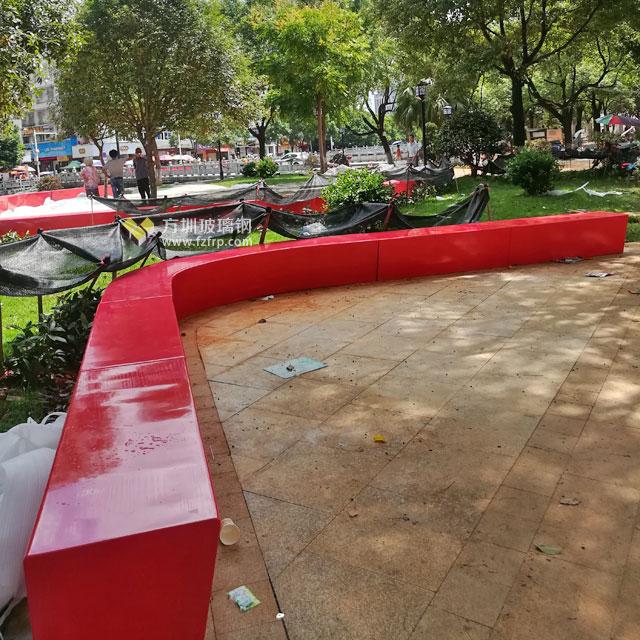 玻璃钢户外休闲椅美化湖南临武公共环境