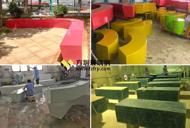 湖南临武玻璃钢户外休闲椅方圳工厂生产图