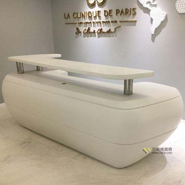 玻璃钢办公室前台深圳装饰现代创意家具就用它