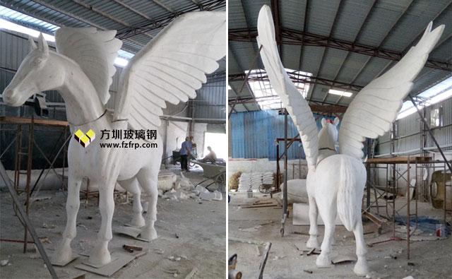 长春新华联玻璃钢飞马雕塑工厂开模制作图